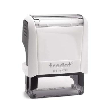 Timbro Autoinchiostrante Trodat Printy 4910 Bianco Artico Totale 26 x 9 mm - 2 righe