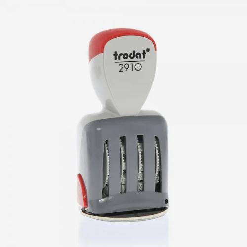 Trodat Classic 2910/P03 Timbro Datario con Data Italiana e piastra di testo personalizzata 54 x 24 mm