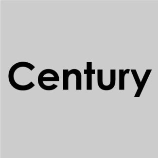 Font Century Ghotic