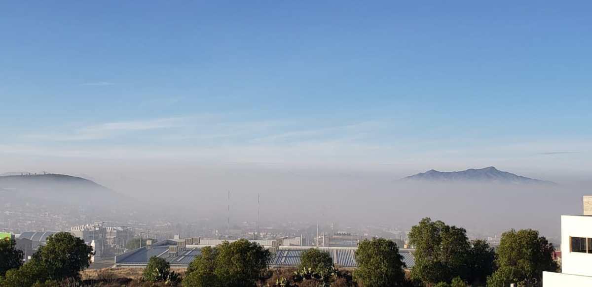 Calidad de aire mala al sur de Pachuca y Mineral de la Reforma