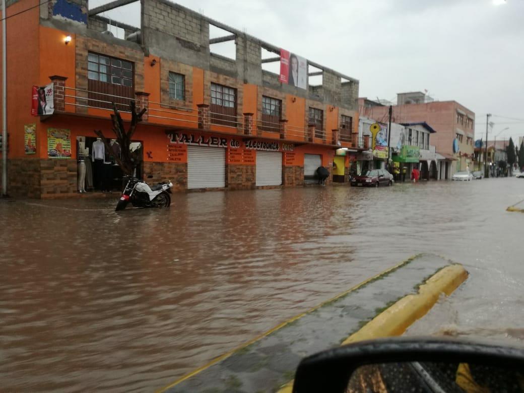 Deja lluvia afectaciones en Tizayuca