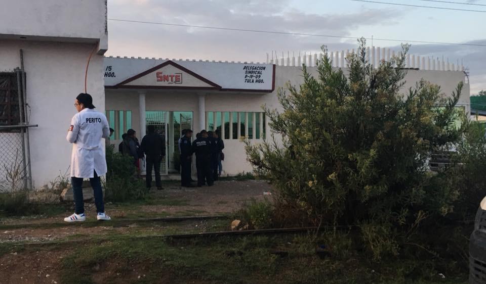 Matan a golpes a sujeto en las instalaciones del SNTE de Tula