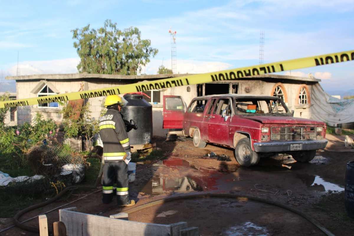 Se incendia domicilio que almacenaba hidrocarburo en Pachuca