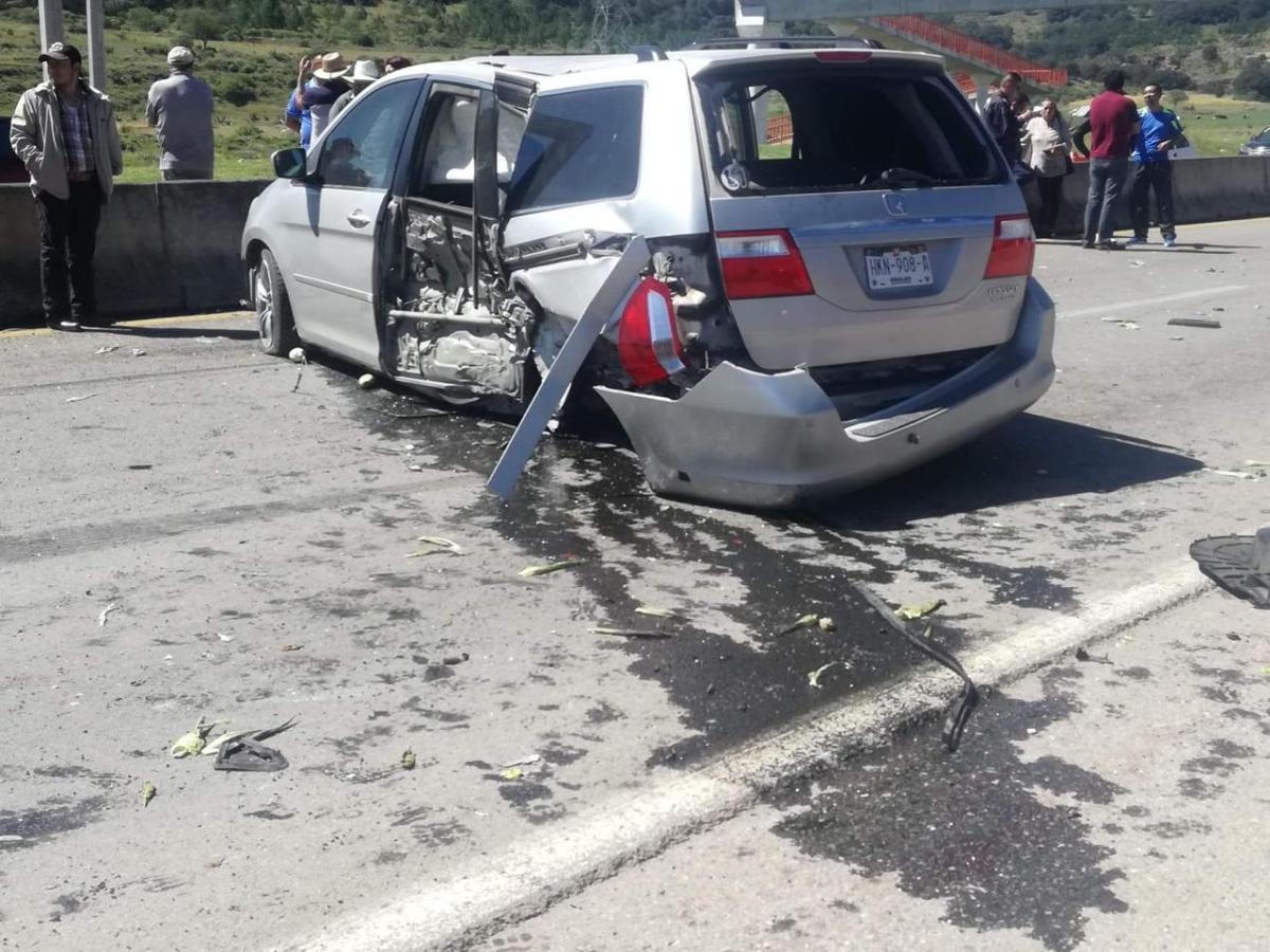 Accidente en la Pachuca-Tulancingo deja dos heridos