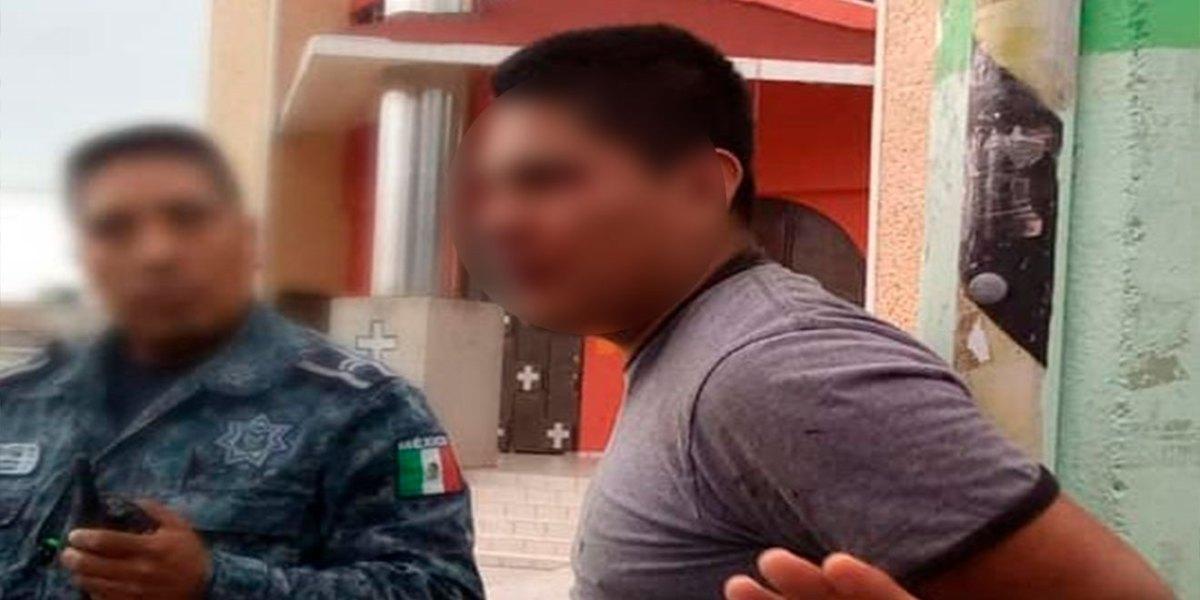 Retienen a presunto ladrón en Pachuca