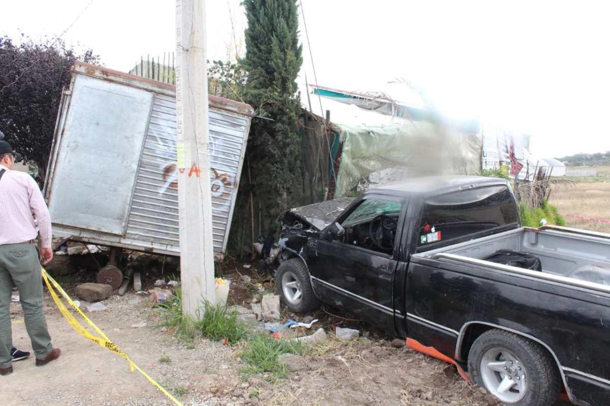 Muere vendedor de tamales al ser arrollado por camioneta en la Pachuca-Sahagún