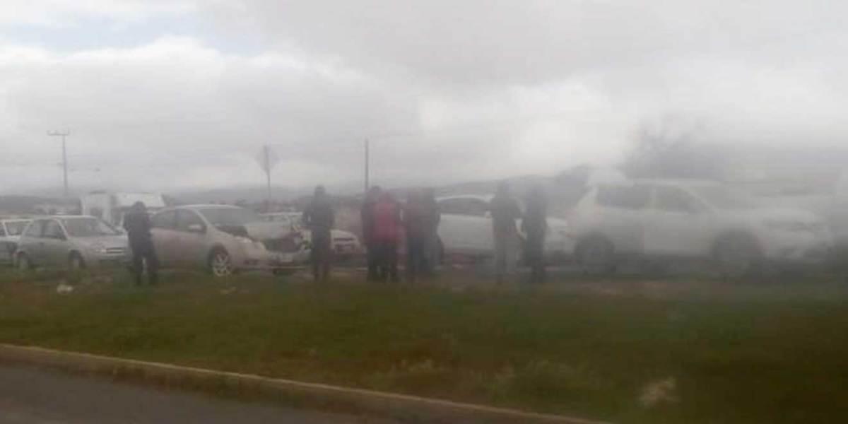 Accidente en la Pachuca-Sahagún deja pérdidas materiales