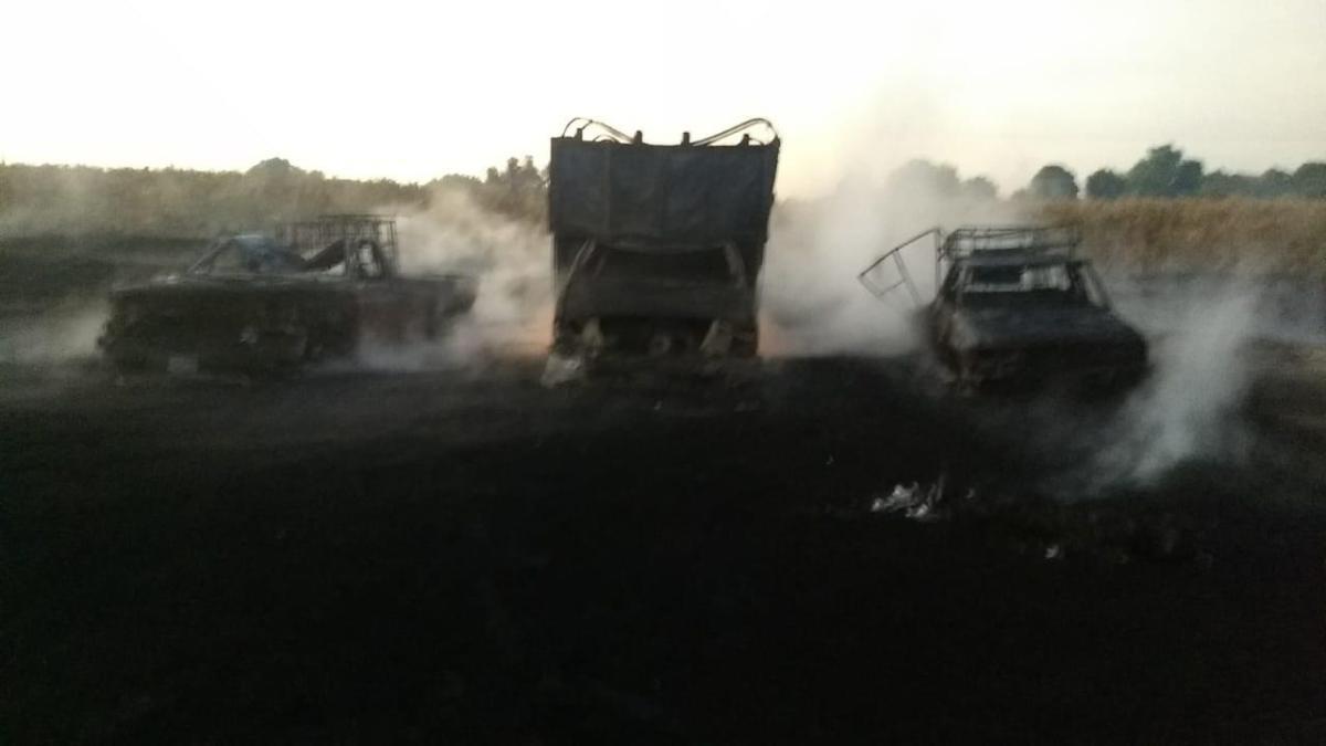 Incendio por ordeña de combustible dejó un muerto y tres vehículos calcinados en Hidalgo (VIDEO)