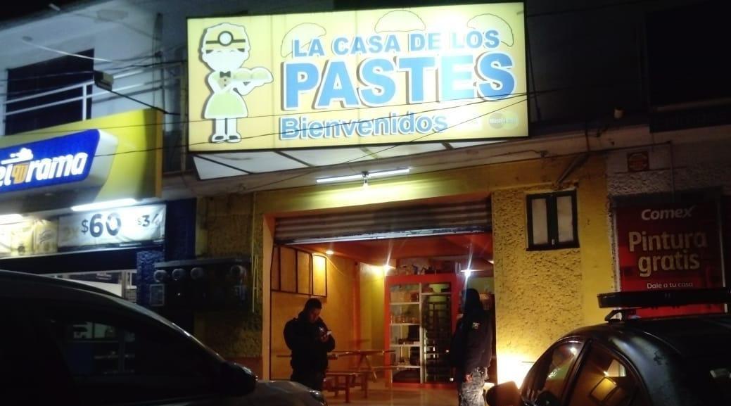 Roban un negocio de pastes en Pachuca