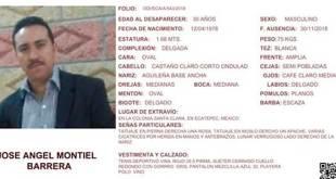 Se busca a José Ángel Montiel Barrera
