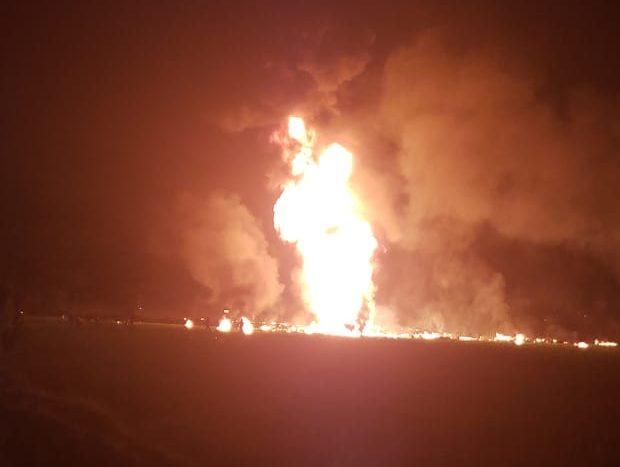 Reportan explosión de toma clandestina de hidrocarburo en Tlahuelilpan