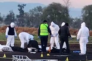 Peritos trabajan para levantar al menor 45 cuerpos calcinados en Tlahuelilpan