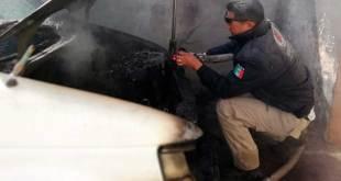 Se incendia camioneta en El Saucillo