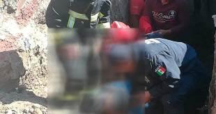 Muere trabajador tras derrumbe de tierra en Tulancingo