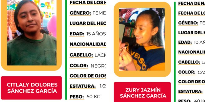 Se busca a hermanas desaparecidas en Zapotlán