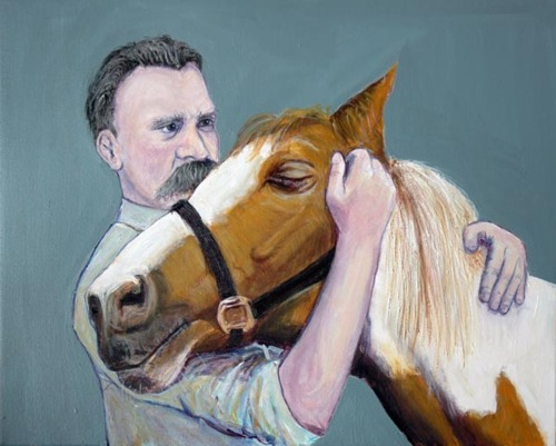 Image result for nietzsche's insanity beating horse