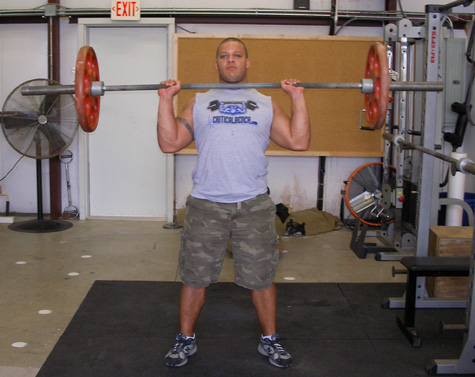 Standing Military Press Shoulder Exercise Video Example