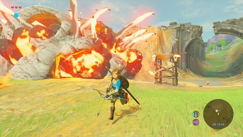 Link rains down death in new Breath of the Wild gameplay