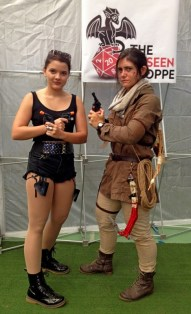 Kyla as Angelina Jolie Lara Croft, Noelle as Rise of the Tomb Raider Lara Croft (Gaming winner).
