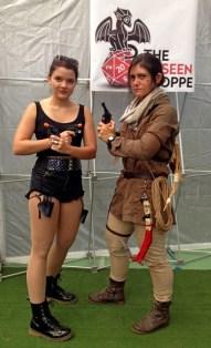 Kyla as Angelina Jolie Lara Croft, Noelle as Rise of the Tomb Raider Lara Croft (Gaming winner).