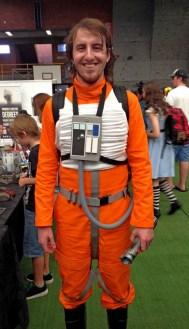 Daniel as an X-Wing pilot.