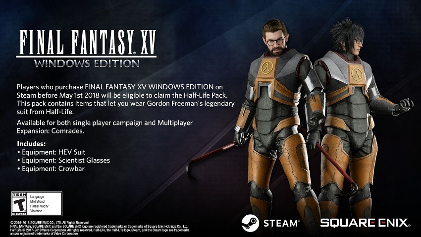 Half-Life's Gordon Freeman is coming to Final Fantasy XV