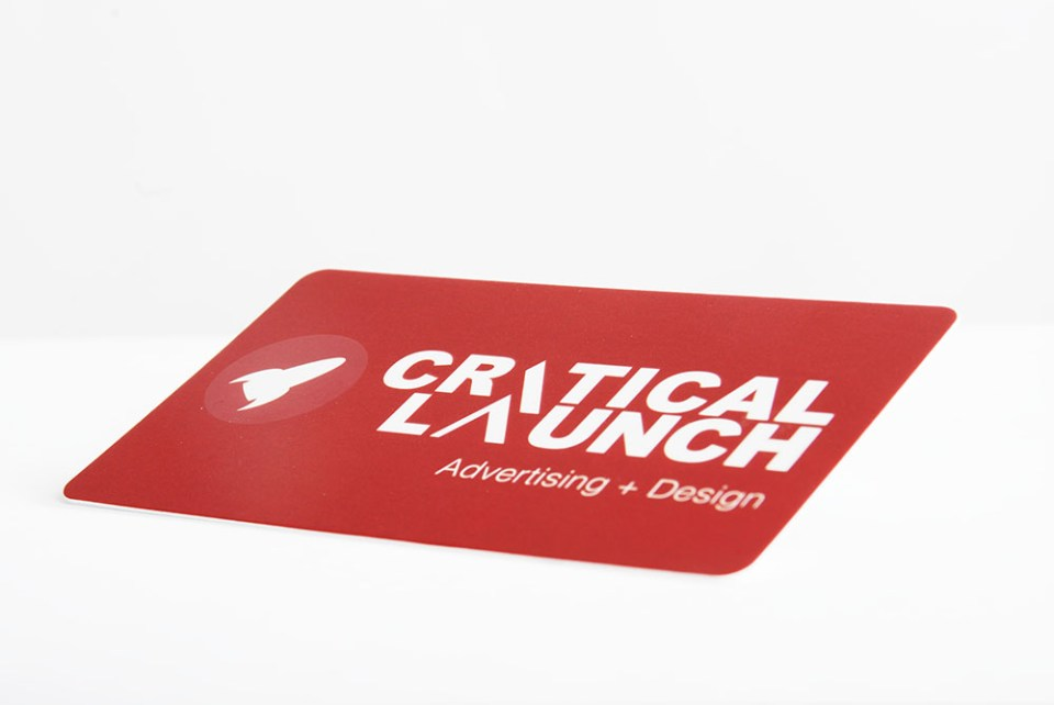 Critical Launch Business Card Design