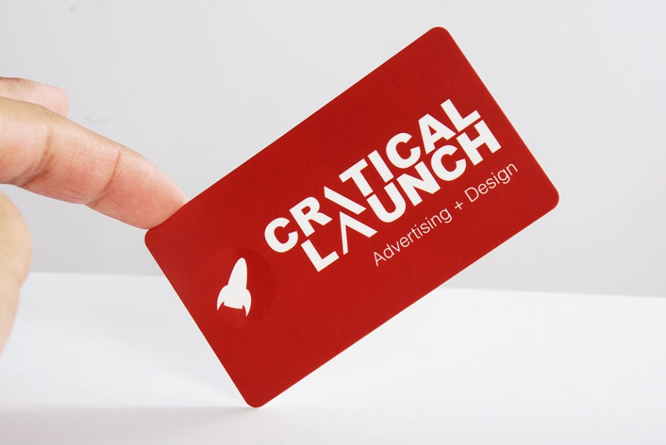 Critical Launch Business Card Design
