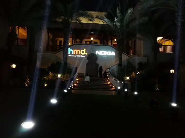 Entrance for the Nokia 8