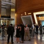 Invitees in the lobby of Dubai Opera