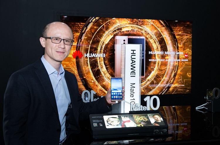 Mr.Gene Jiao, President of Huawei CBG, MEA at HUAWEI Mate 10 Series Launch Event in Dubai