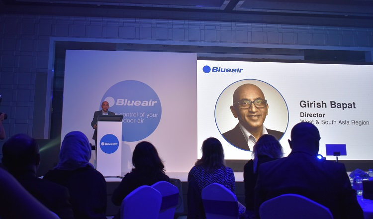 Girish Bapat introducing the Blueair product range