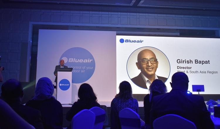 Girish Bapat introducing the Blueair product range