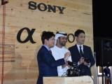 Kimura, Sheikh Sultan bin Ahmed Al Qasimi & Toyuzumi launch Sony 3 Products