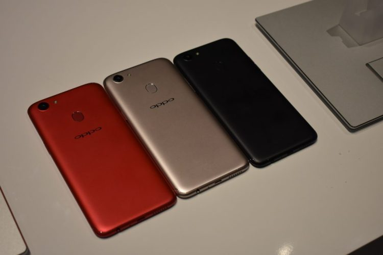 OPPO F5 - RED, Gold & Black