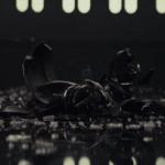 Kylo Ren destroys his helmet
