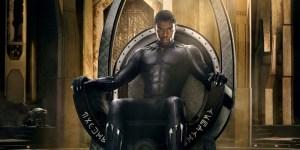 Chadwick Bose (T'challa - Black Panther as the king of Wakanda