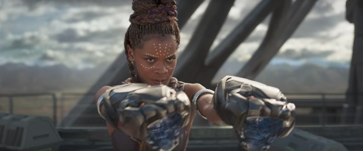 Shuri (Letitia Wright) is the genius who creates all weapons for Black Panther
