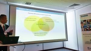 Koji-Naka explains Casio's-CSR-Approach