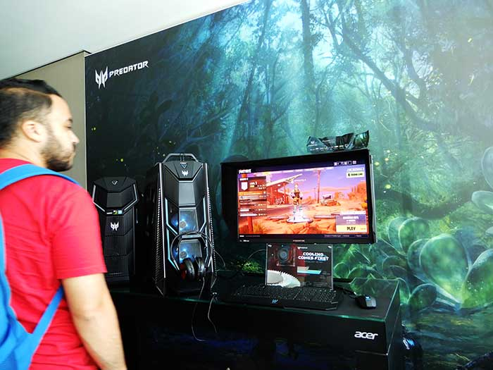 Acer Predator-Desktop-&-Monitor-at-event
