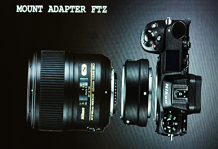 The New Nikkor lens-mount Adaptor which can be used for Z5 & Z6 Cameras for older Nikkor lens