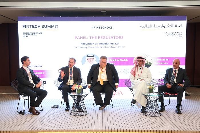 Panelist discussing innovations vs regulations