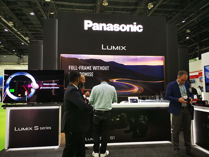 Panasonic-Stand-at-Cabsat-2019