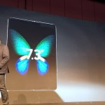 Samsung Galaxy S Fold smartphone opened up size 7.3 inches