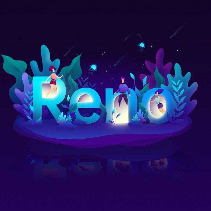 Logo of RENO Smartphone representation by an artist