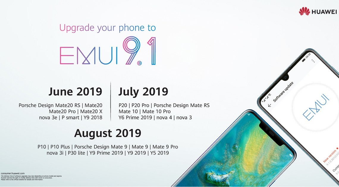 Huawei's most advanced OS update EMUI 9.1 rolls out in the UAE