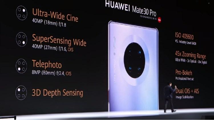Huawei Mate 30 Pro- Main Camera Array details