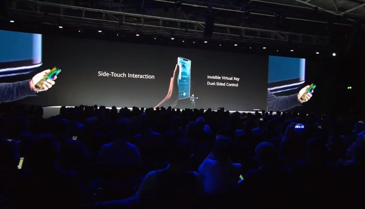 Huawei Mate 30 series- Intuitive Side-touch Interaction for Volume Rocker