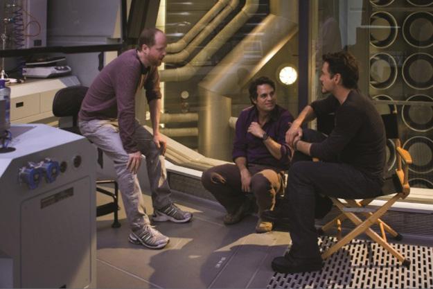 Joss Whedon Mark Ruffalo Robert Downey Jr tournage avengers