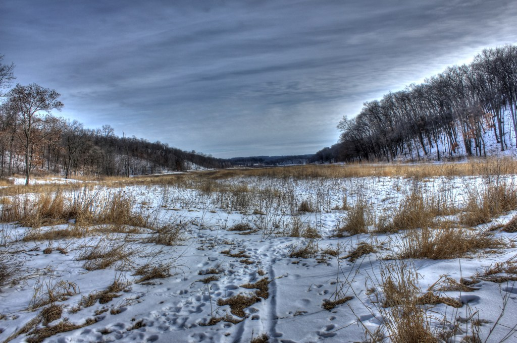 wisconsin ice age trail winter tundra